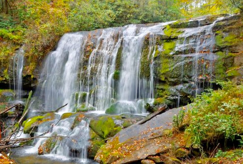 Bald River Falls can be seen from your car, or you can go for a hike.