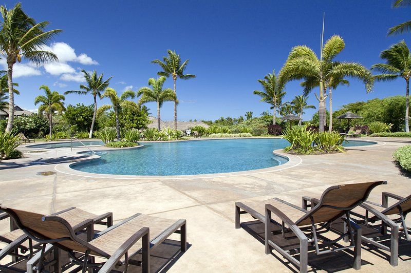 Bâtiment, hôtel, complexe hôtelier, eau, piscine