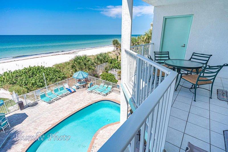 Escada lateral do Golfo acesso adicional à área da piscina