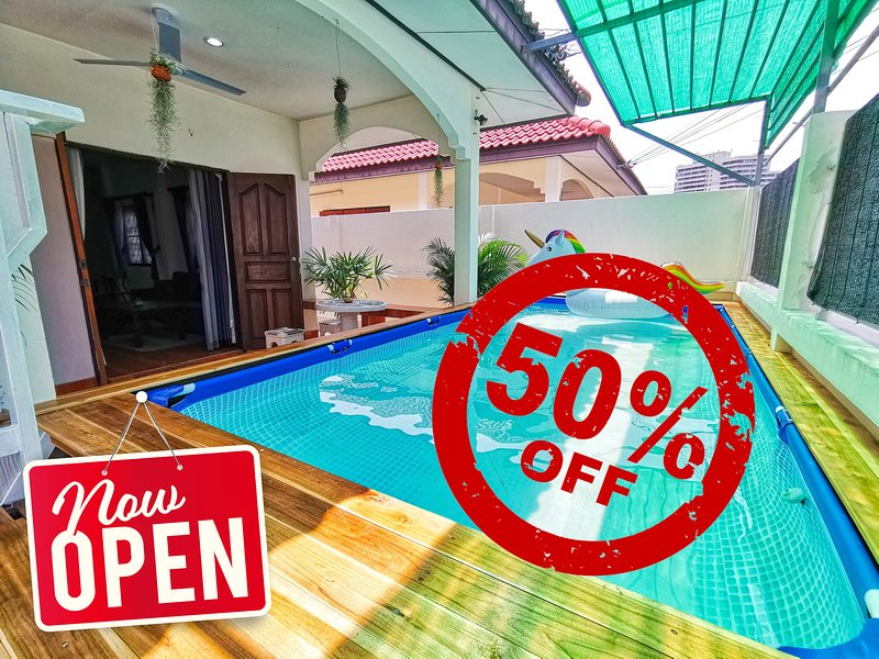 Private pool, perfect for kids, relax, quiet ✌, vakantiewoning in Jomtien Beach