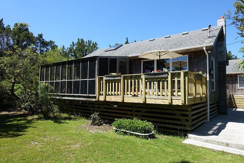 Veranda, Gebäude, Deck, Gras, Haus