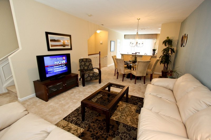 Get comfortable and relax as you enjoy the large flat screen television