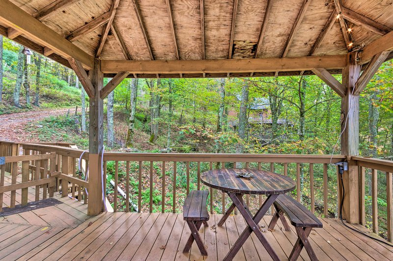 Relax on the deck and breathe in the fresh North Carolina air.