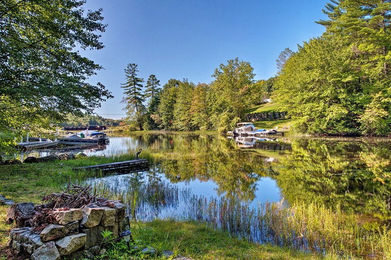 The 1-bedroom, 1-bathroom waterfront hideaway features direct waterfront access.