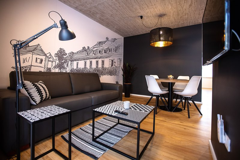 Postcard City Apartment with private Terrace & Parking, holiday rental in Destrnik