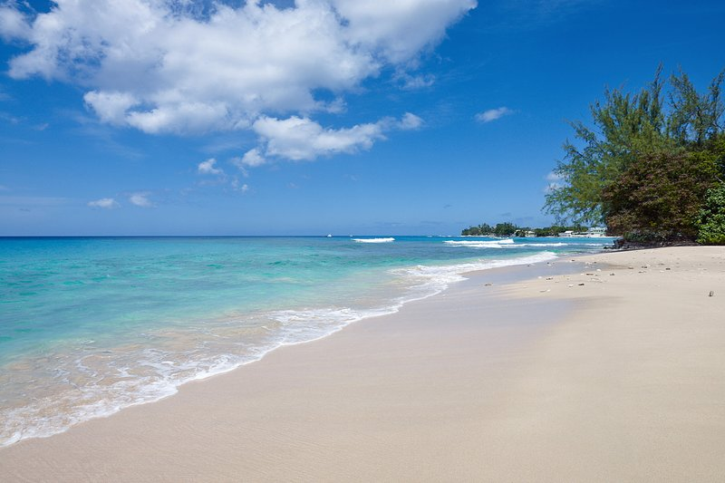 Enjoy direct beach access to a practically private stretch of beach
