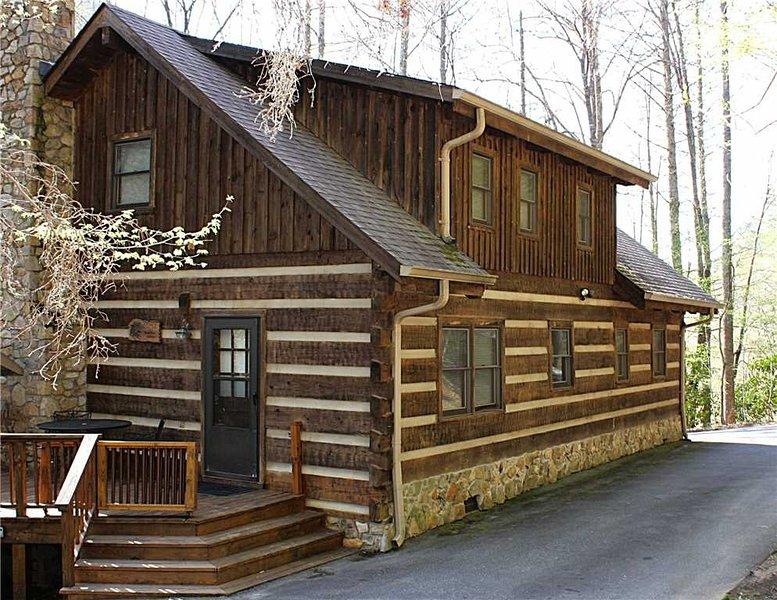 Bâtiment, maison, cabine, cabane rondins, dehors