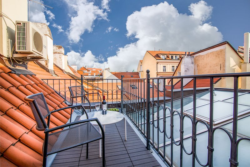 Three neighboring apartments w/ full kitchens & a rooftop terrace, holiday rental in Prague
