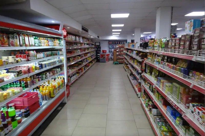 Supermarket at the entrance