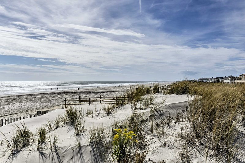 You'll find the sandy shores of Stone Harbor Beach just a 5-mile drive away.
