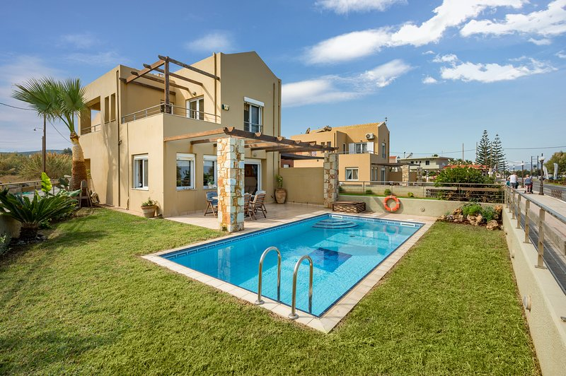 Athina's villa on the sea (villa with private pool chania), holiday rental in Maleme