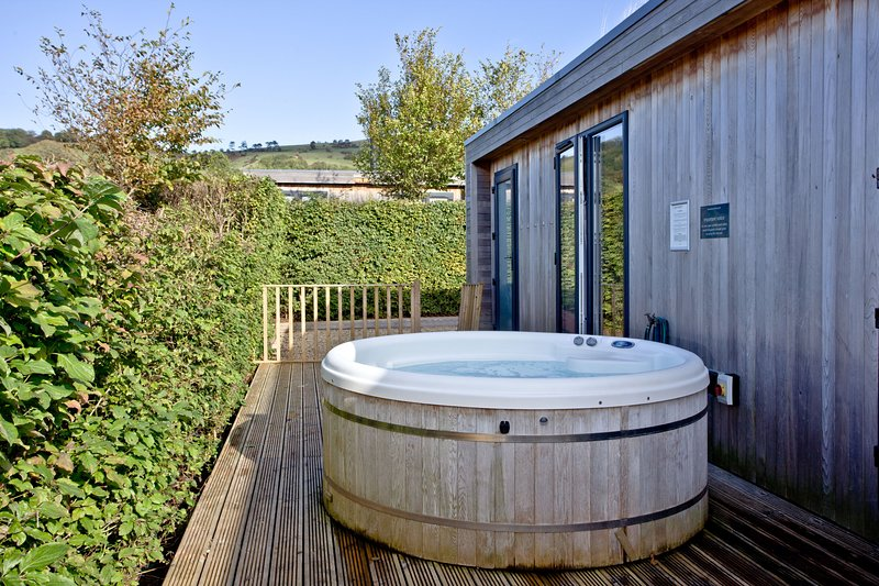 Whileaway Lodge, Strawberryfield Park - A luxurious two bedroom lodge with a lar, alquiler de vacaciones en Cheddar