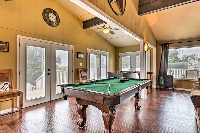 The vacation rental offers a game room - perfect for families!