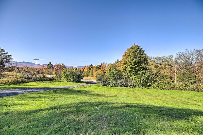 The property offers stunning views from the Elmore Mountain base!