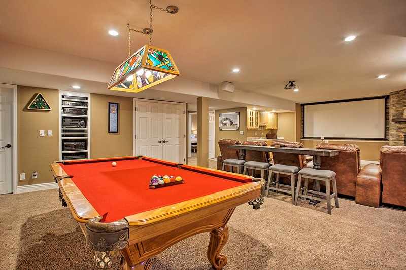 The property boasts 5 bedrooms, 3.5 baths and endless entertainment!