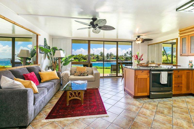 Kuhio Shores, Poipu-Oceanfront Beauty, vacation rental in Poipu
