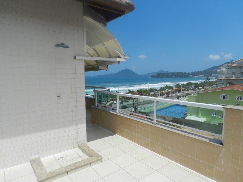 Cobertura Condomínio Costa Atlântica Piscina Praia Grande Ubatuba, vacation rental in Ubatuba