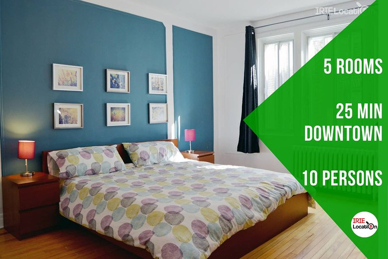 Bright Apt 10 people, 20 min downtown, 5 bedrooms, vacation rental in Westmount
