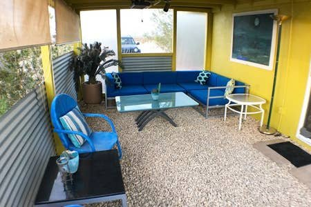 Covered patio with BBQ
