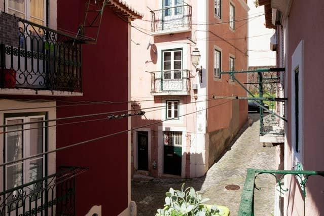 Uitzicht vanuit slaapkamer 1 balkon