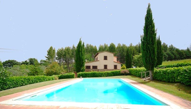 Private holiday villa in Valdorcia VILLA SEGGIANO, holiday rental in Montelaterone