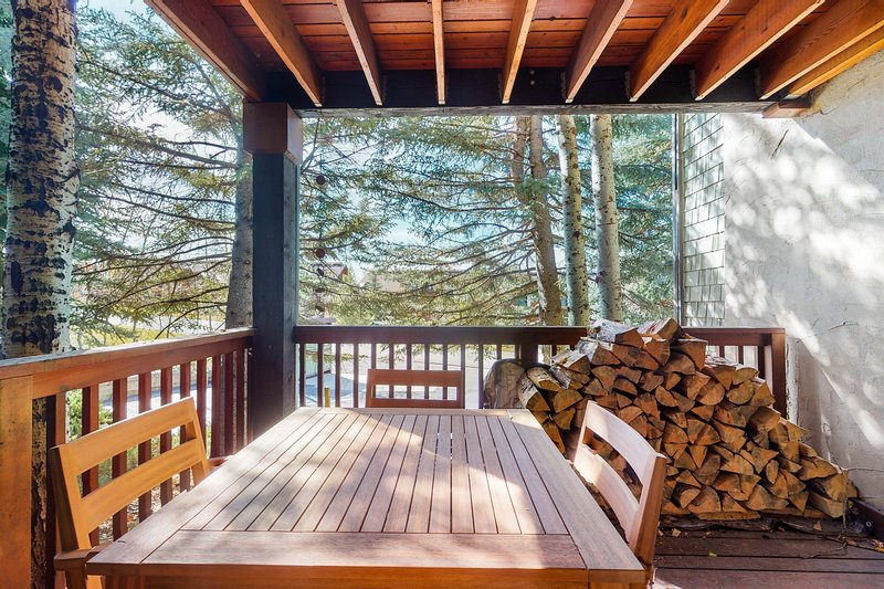 Mountain condo w/ wood-burning fireplace & shared hot tub - walk to lifts! Chalet in Steamboat