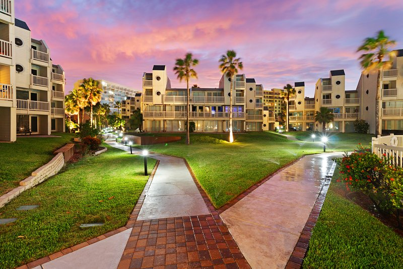 Two-level, dog-friendly, waterfront condo w/ shared pool, hot tub, gym, vacation rental in Port Isabel