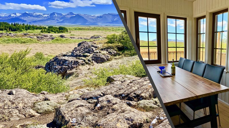 Warm Cottage for 10 with Guest House and HotTub close to Snæfellsjökull Glacier, holiday rental in Bifrost