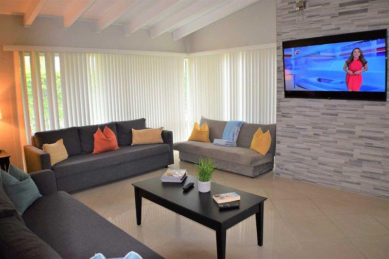 Mobili, soggiorno, camera, interni, divano