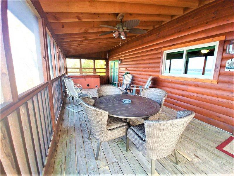 Möbler, stol, veranda, takfläkt, lövträ
