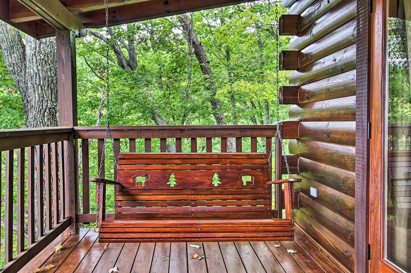 Rock yourself to sleep in the deck swing.