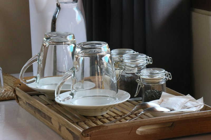 Organic tea and Lombok coffee available in your room.