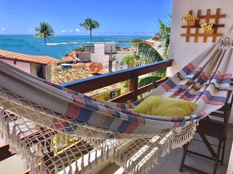 Flats Morro de São Paulo-Flat Superior 2 quartos - 40m da praia e do centro, vacation rental in Taperoa