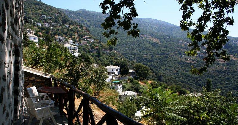 Side view of Makrinitsa and Portaria