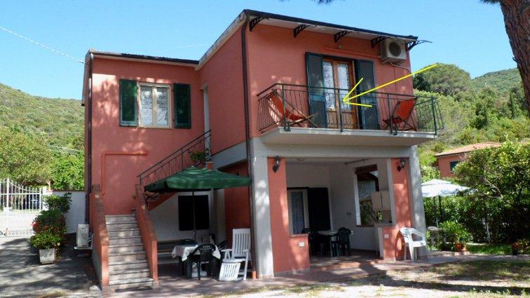 Monolocale vacanze sul mare all'isola d'Elba Portoferraio Viticcio (LI), holiday rental in Biodola