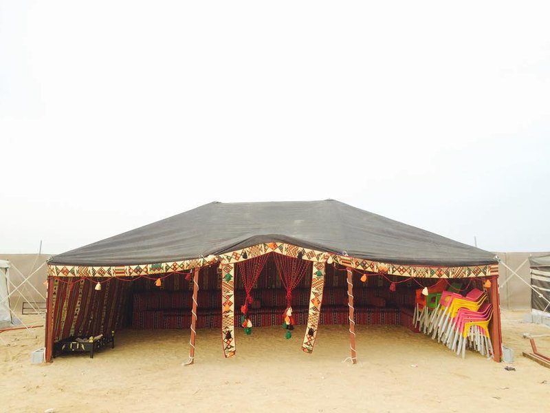on eof the traditional tents