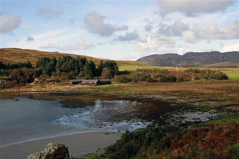 Ruantallain Lodge si trova in una baia riparata e spiaggia sul Sound of Jura