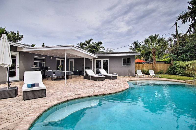 Ground-Level Wilton Manors Home w/ Outdoor Oasis!, aluguéis de temporada em Lauderhill