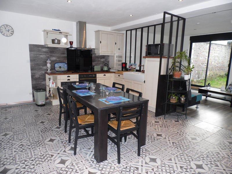 Gîte 2 à 4 personnes à la campagne 'La maison des Hirondelles' 02420 Nauroy, alquiler vacacional en Caudry