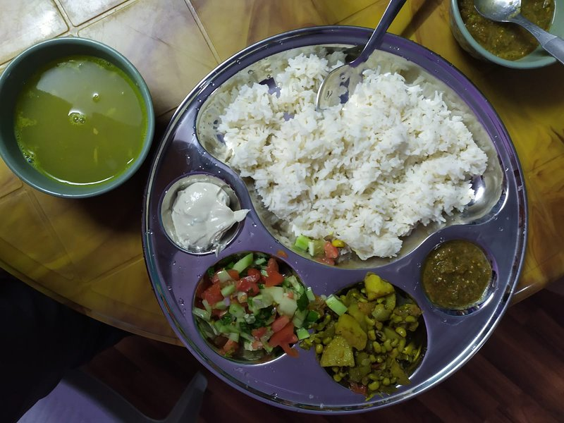 Nepali Daal Bhat with Green Salad and Tahini