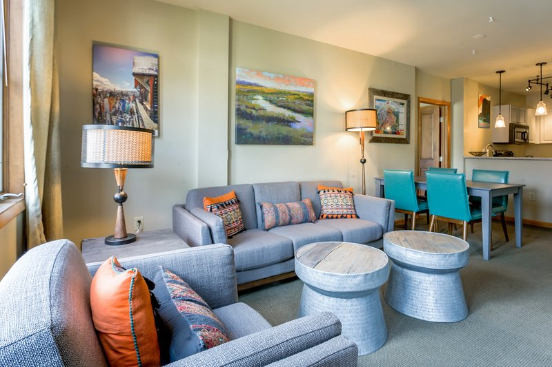 Welcome to Zephyr Mountain Lodge 2510 - a colorful two bedroom base area condo