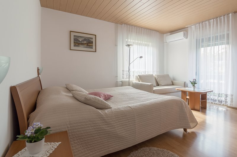 Spacious 2-Bedroom Apartment With Balcony and A/C, holiday rental in Ribno