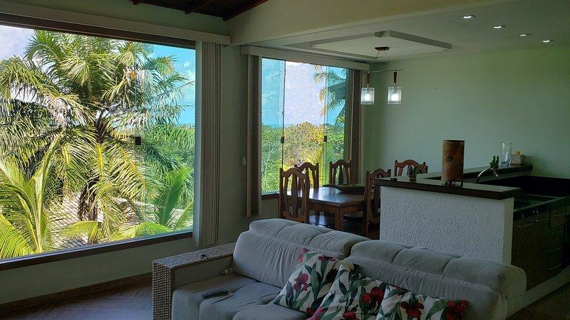 'Charmosa Casa com vista Mar' Vila Sogno d'Estate, vacation rental in Santa Cruz Cabralia