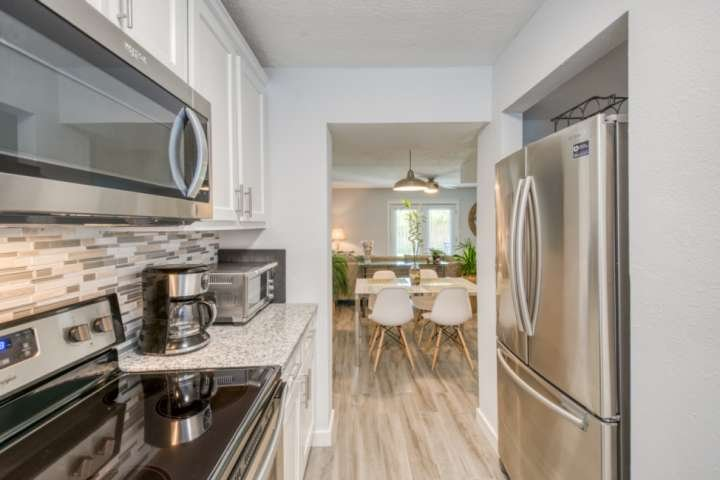 Modern and Coastal, Flagler Flat is fresh and inviting!