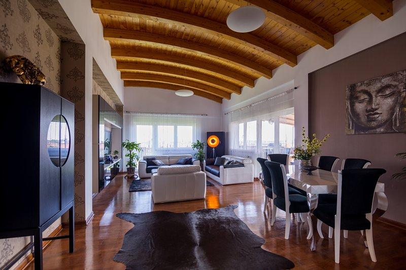 Rooftop Penthouse, location de vacances à Dumbravita