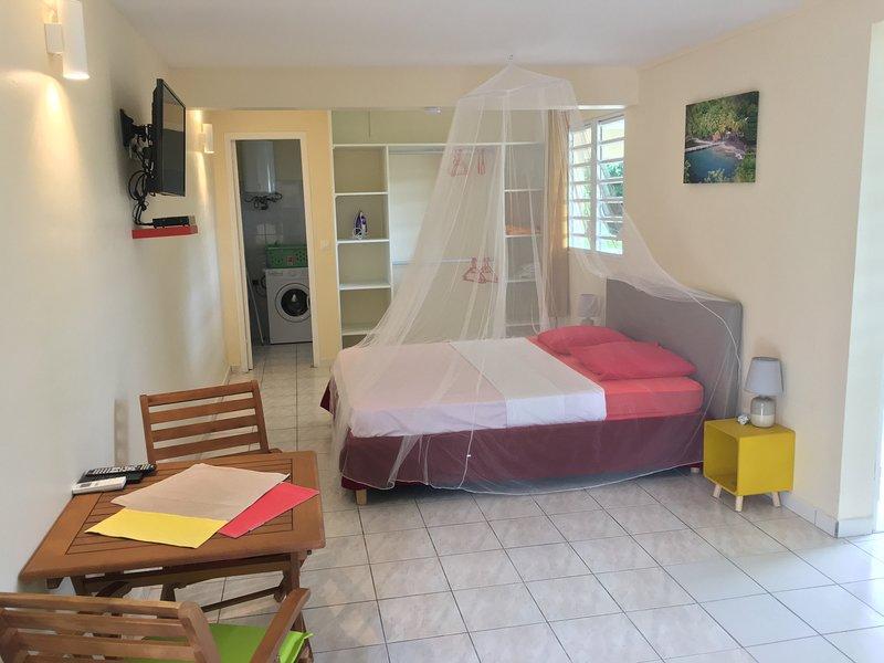 Studio de charme au centre de la Martinique dans la ville de Schoelcher, location de vacances à Schoelcher