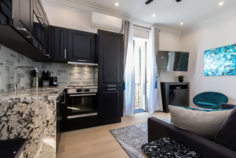 RUE ROSSETTI UPSCALE 2BR/2BA WITH 2 BALCONIES IN OLD TOWN JUST RENOVATED, vacation rental in Nice