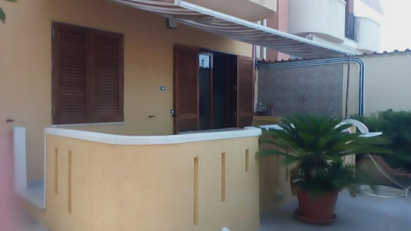 Large veranda that gives access to the apartment
