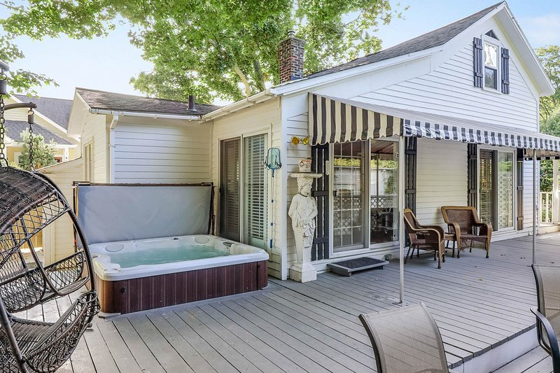 Dog-friendly cottage with private hot tub - steps to downtown!, vacation rental in Allegan County