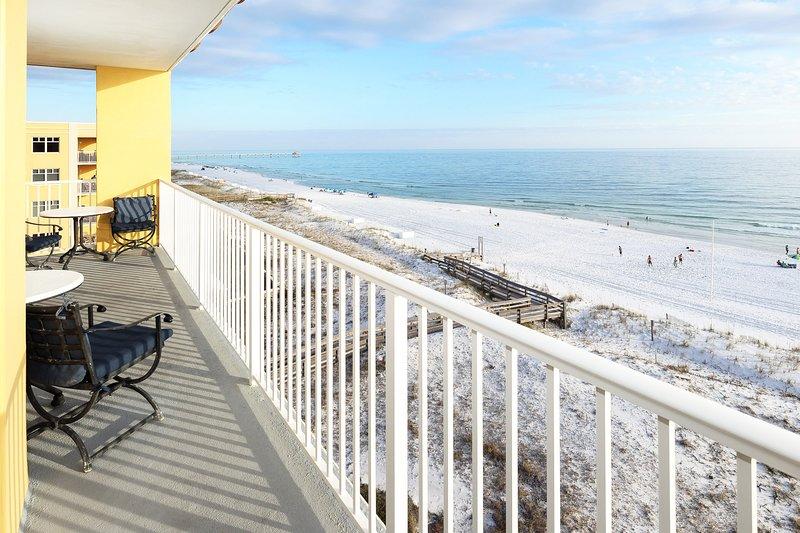 Balcony View -  Gulf Dunes Resort Unit 601, Okaloosa Island Fort Walton Beach Vacation Rentals